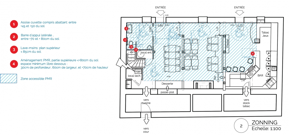 acanthe r alisation mise en accessibilite d un bar tabac. Black Bedroom Furniture Sets. Home Design Ideas